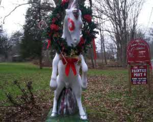 Picture of a Pony Statue Painted with Decorations