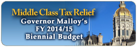 Middle Class Tax Relief Governor Malloy's FY 2014/15 Biennal Budget
