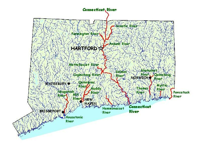 KIDS: Shad in Connecticut Map